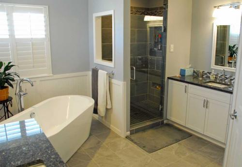 Finished Master Bath Remodel